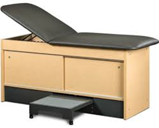 """Picture of 9777-27 - 27"""" Wide Cabinet Table,Double Sliding Doors and Pull Out Step Stool"""