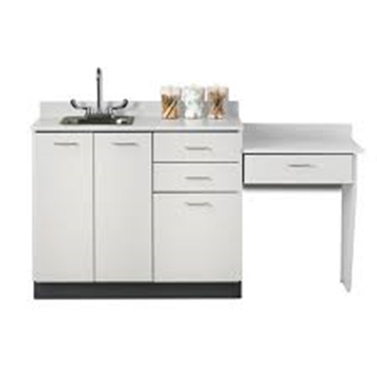 "Picture of 8042-99 - 42"" Cabinet/Desk/Sink Combo"