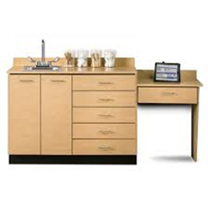 "Picture of 8048-99 - 48""Cabinet/Desk/Sink Combo"