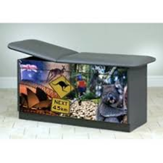"""Picture of 7942 - """"Down Under"""" Treatment Table w/ Back Rest"""