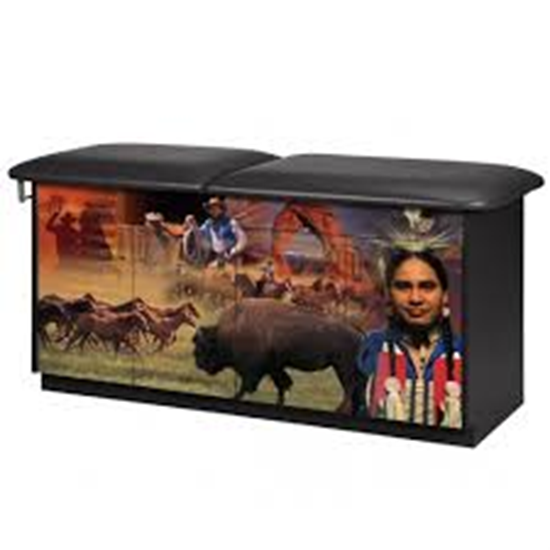 """Picture of 7943 - """"Wild West"""" Treatment Table w/Adj. Back"""