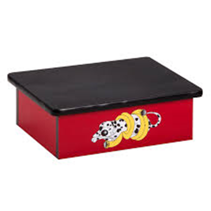 Picture of 10-D - Dalmatian Red Laminate Step Stool