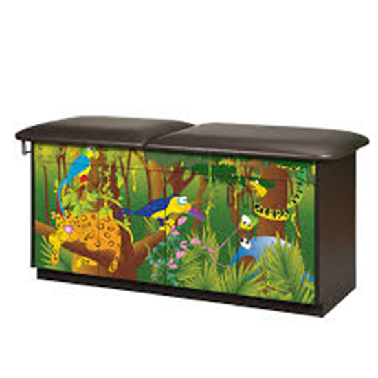 Picture of 7932-1 - 4 Door Table-Rain Forest-Flat Back