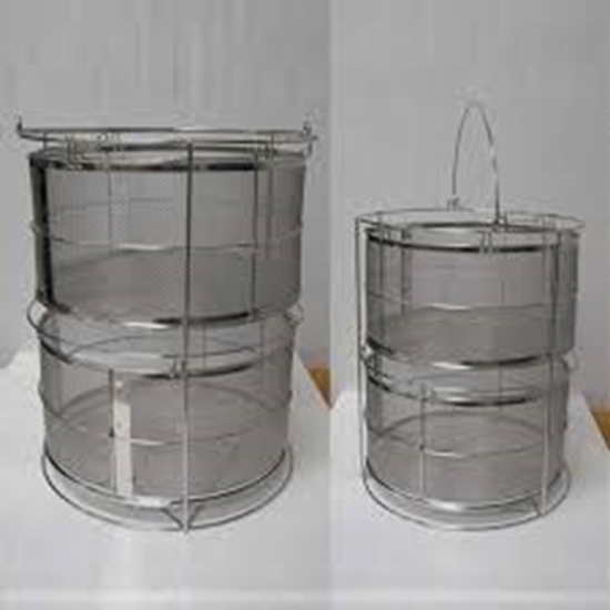 Picture of 241097 - Mesh basket with 1 adjustable stainless steel perforated plate SQ500/810 (OSR-50)