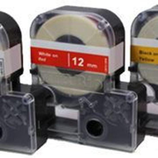 Picture of L9010-12CK 12mm lab tape, clear w/ black print