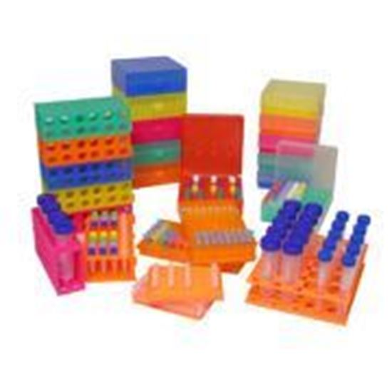 Picture of R1020-O Storage Box, hinged lid, 100 x 1.5ml, Orange