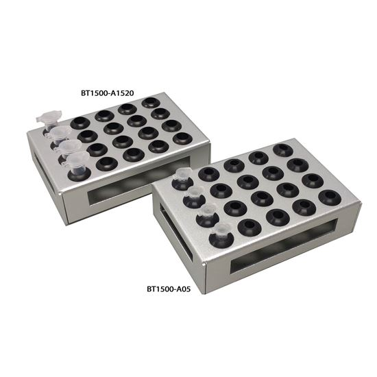 Picture of BT1500-A05 Microtube Adapter, 20 x 0.5ml for microplate shakers BT1500 and H6004)