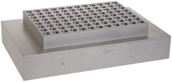 Picture of BSWPCR2 - Block, PCR plate 96 x 0.2ml, skirted or non-skirted For 2 or 4-block dry bath only