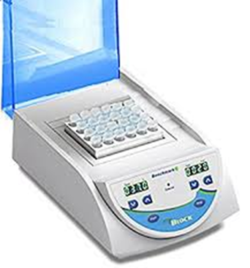 Picture of BSH5001-1B - myBlock l™- digital dry bath with 1 Quick-Flip blocks (BSWCMB) for tubes (0.2 to 2.0ml, PCR strips and PCR plates, 115V