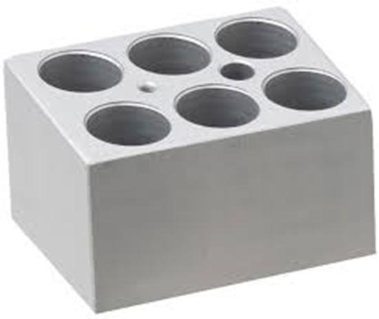 Picture of BSH100-5MT - Block, 6 x 5ml centrifuge tubes (17mm diameter)