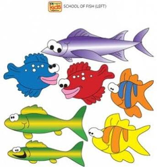 Picture of 07-CC-L - School of Fish Wall Sticker-Left
