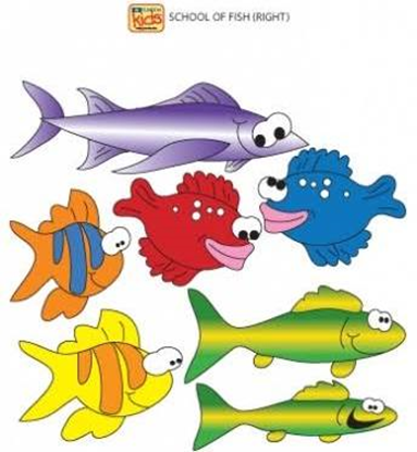 Picture of 07-CC-R - School of Fish Wall Sticker-Right