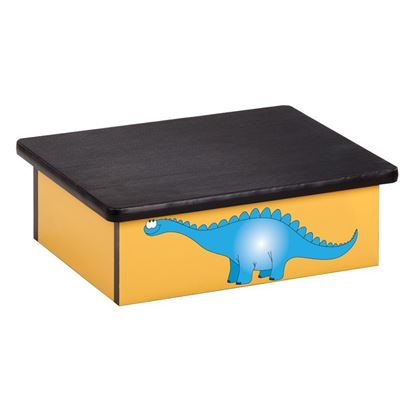 Picture of 10-DD - Step Stool Featuring Smiling Dinosaur