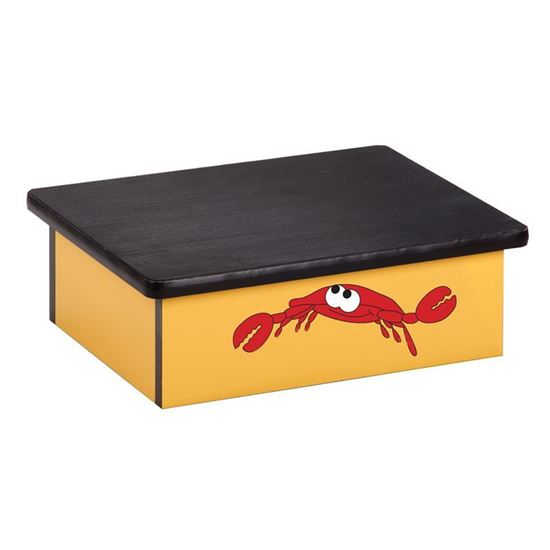 Picture of 10-O - Step Stool Featuring Smiling Crab