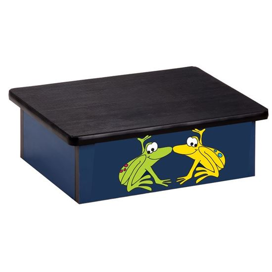 Picture of 10-RFB - Stool Featuring Tree Frogs on Blue
