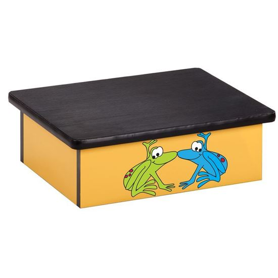 Picture of 10-RFY - Step Stool Featuring Tree Frogs on Yellow