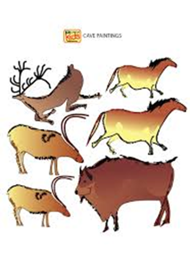 Picture of 11-CC - Cave Paintings Wall Sticker