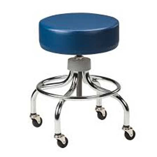 Picture of 2102 - Adjustable Chrome Stool w/ Round Footring