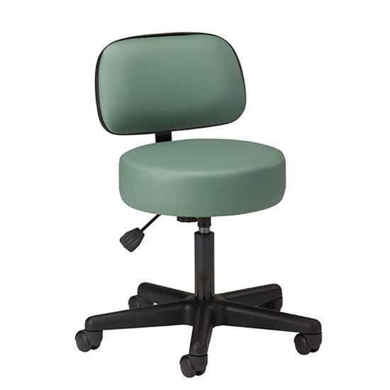 Picture of 2135-21 - Black Base, 5-Leg, Pneumatic Stool with Backrest